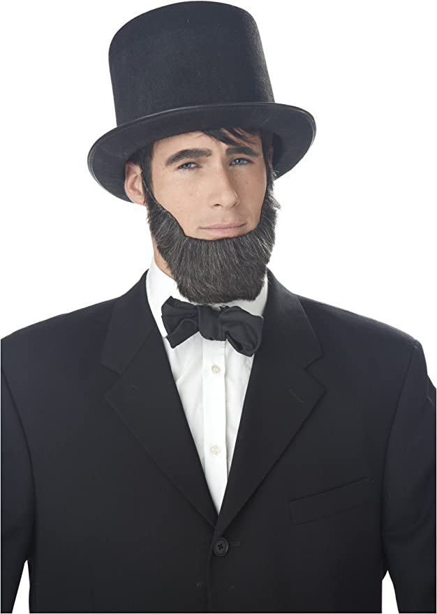Details about  /Abraham Lincoln Beard Patriotic American Facial Hair Costume Accessory