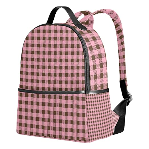 Amazon.com: Sunlome Pink Geometric Square Pattern Laptop Backpack Casual Shoulder Daypack for Student School Bag Handbag - Lightweight: Computers & ...