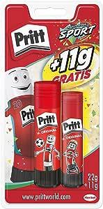 Pritt Barra Adhesiva, pegamento infantil seguro para niños para hacer manualidades, cola universal de adhesión fuerte para estuche y oficina, 1x11 g y 1x22 g Pritt Stick