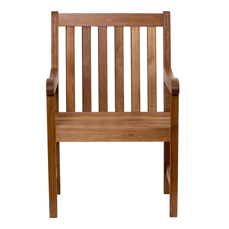 Amazon com amazonia milano eucalyptus armchair chair garden outdoor