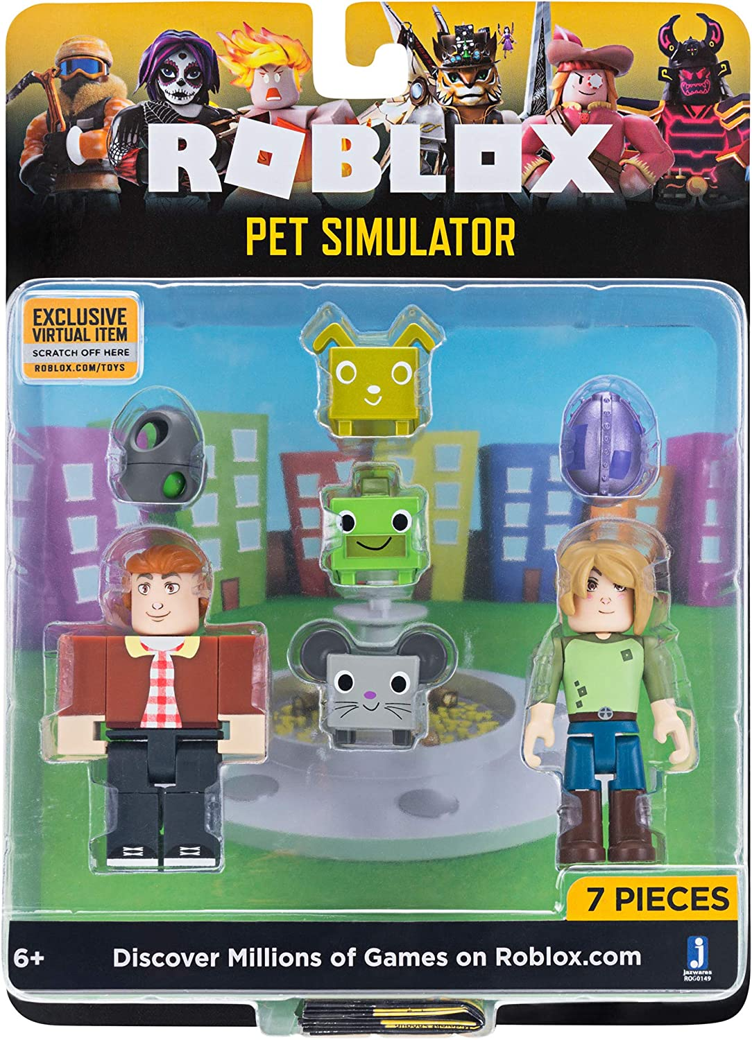 Amazon Com Roblox Celebrity Collection Pet Simulator Game Pack