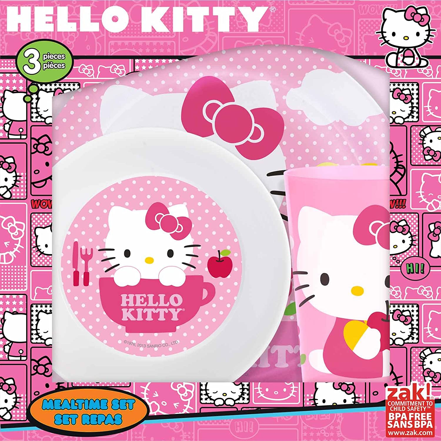 Hello Kitty Kids Mealtime Set 3 Pieces by Hello Kitty   B00G7RB04A