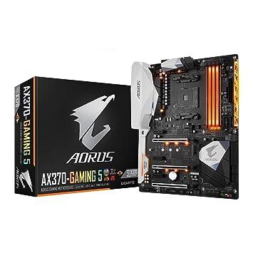GIGABYTE GA-AX370-Gaming 5 AMD Ryzen CPU AM4 Socket DDR4 PCIe Gen 3 USB 3 1  GB LAN ATX Motherboard