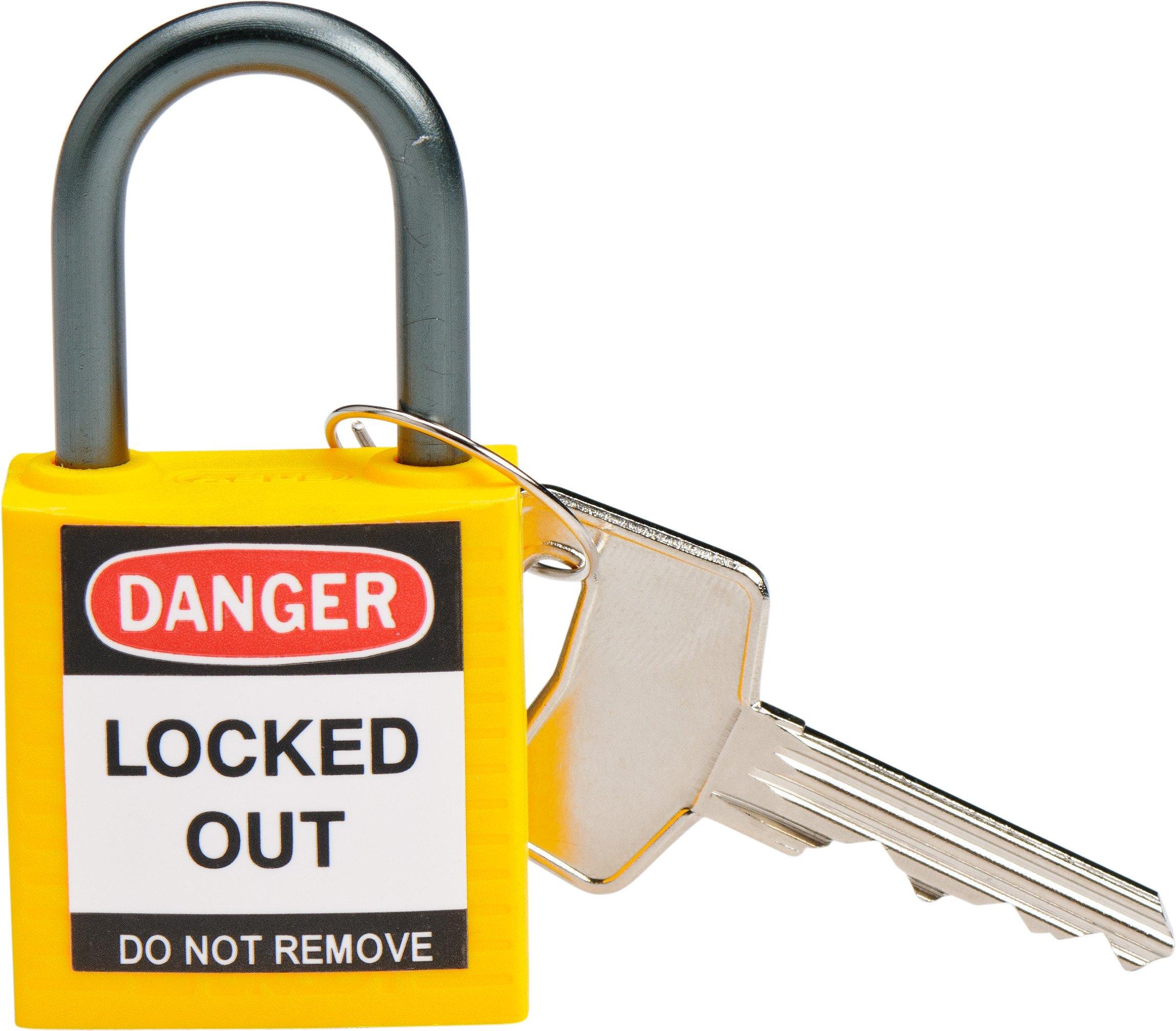 Brady 143158 Compact Safety Lock, Yellow
