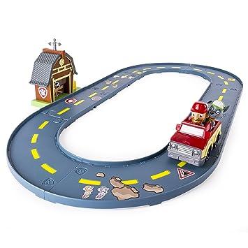 Amazon Com Paw Patrol Rocky S Barn Rescue Track Set Toys Games