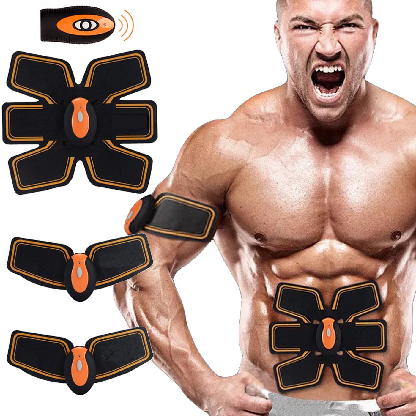 Buydaly el toner abdominal del músculo, engranaje de entrenamiento del ABS, sistema electrónico del músculo para el abdomen y el brazo, sin hilos, equipo del entrenamiento del hogar/de la oficina