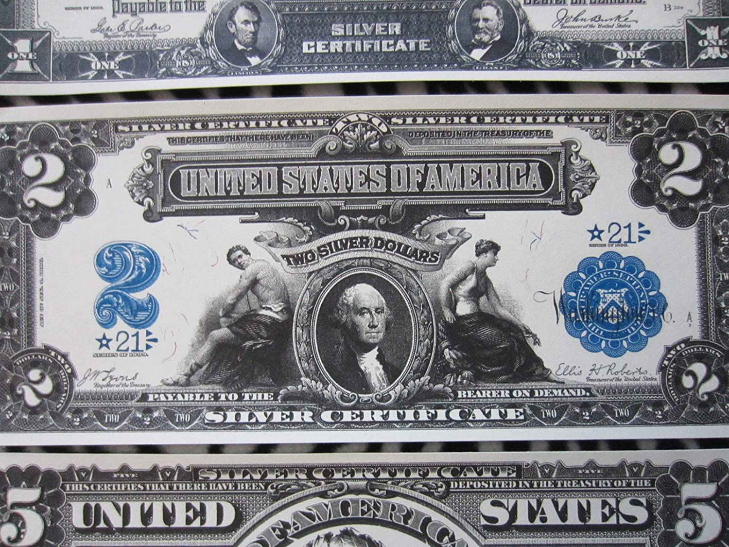 Amazon 1899 1 2 5 10 Silver Certificate Large Copy Star