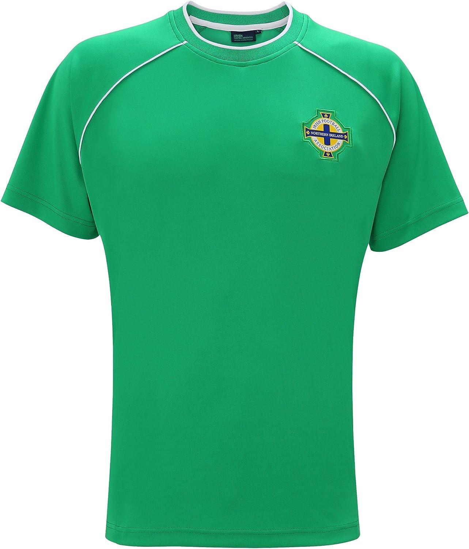 Selección de Irlanda del Norte - Camiseta Oficial de Manga Corta para Hombre (S) (Verde): Amazon.es: Ropa y accesorios