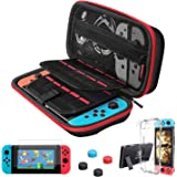 Carrying Case for Nintendo Switch,Vilcome 10 IN 1 Travel Carry Case Portable Protective Bag Pouch Hard Shell Case with 2 Pack