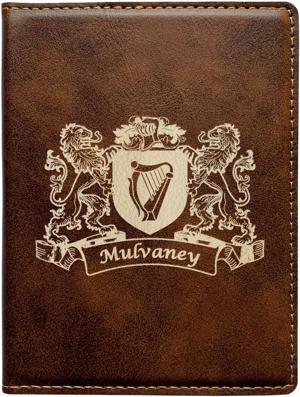Mulvaney Irish Coat of Arms Leather Passport Wallet