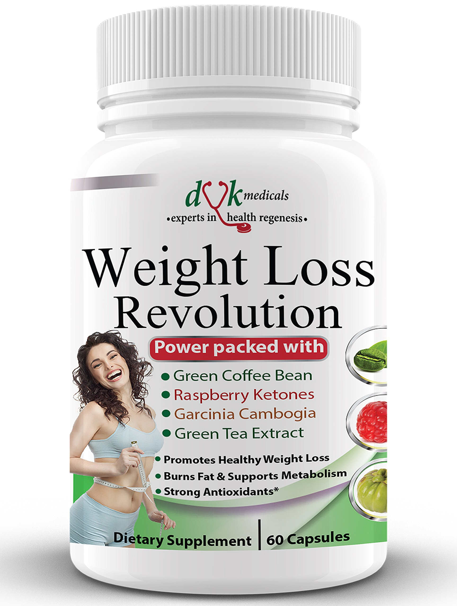 Weight Loss Revolution:Green Coffee Bean,Raspberry Ketones,Garcinia Cambogia,Green Tea :Thermogenic Fat Burner :Appetite suppressant :Lose Belly Fat :Natural Weight Loss Supplement for Women Men