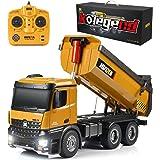 kolegend Remote Control Construction Dump Truck, 1/14 Scale Full Functional RC Dump Truck Toy Heavy Duty Metal Construction V
