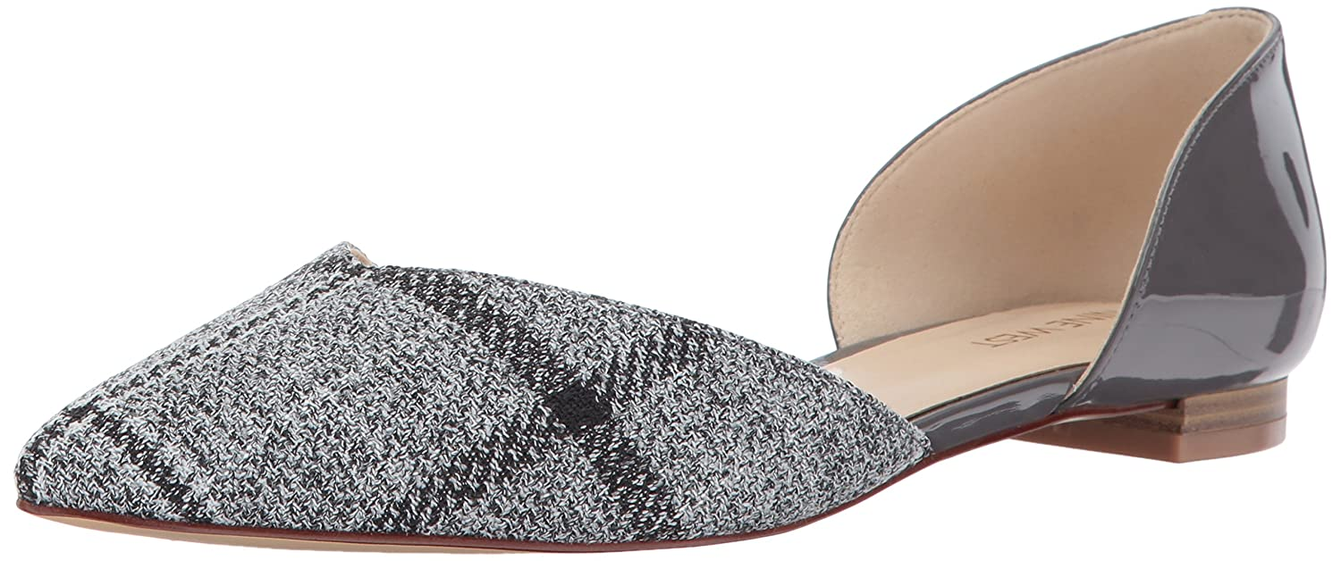 Nine West Women's Abdemi Fabric Ballet Flat B01N0LAF4Q 11 B(M) US|Grey Plaid