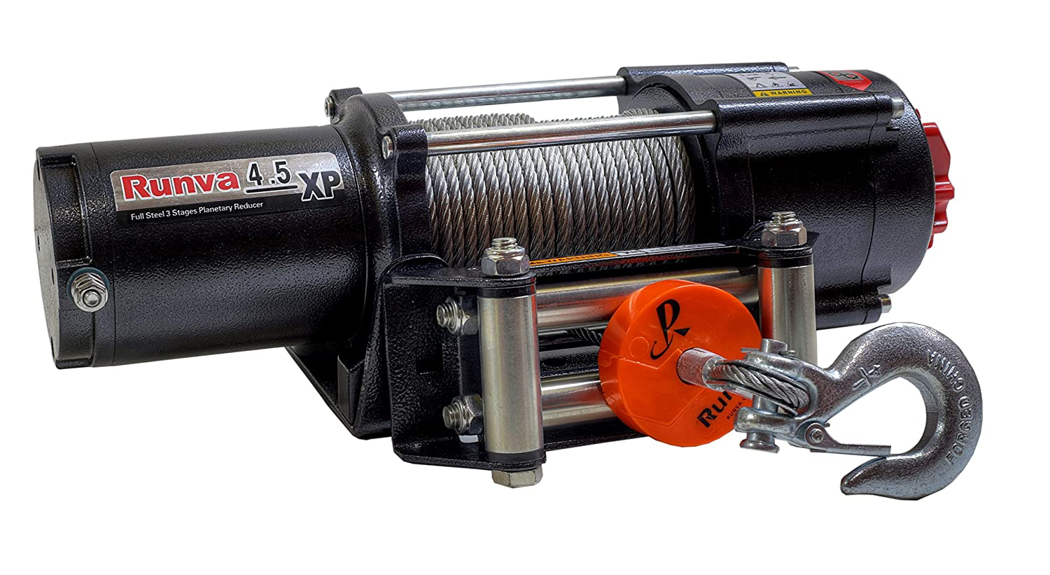 Runva 4.5XP 4500 lb 12V UTV / Trailer Winch Expert Package