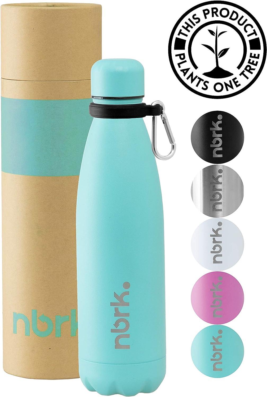 Nobreak - Botella de Agua Acero Inoxidable de Grado Alimenticio Sin BPA - 500/750 ml - Botella Termica Reutilizable para Niños y Adultos, Bebidas Frias hasta por 24 Horas y Calidas por 12 Horas