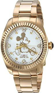 Invicta Womens Quartz Stainless Steel Casual Watch, Color:Gold-Toned (Model: