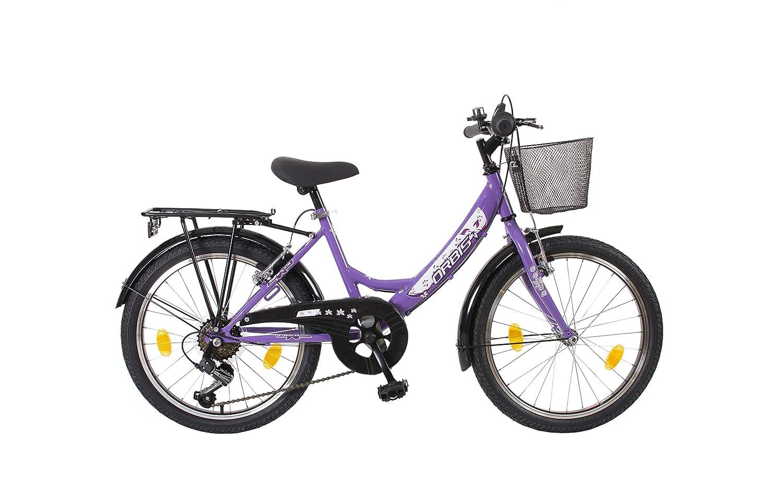 20 ZOLL Kinder Fahrrad Kinderfahrrad Cityfahrrad City Bike Rad Mädchenfahrrad Bike VOLTAGE LADY LILA