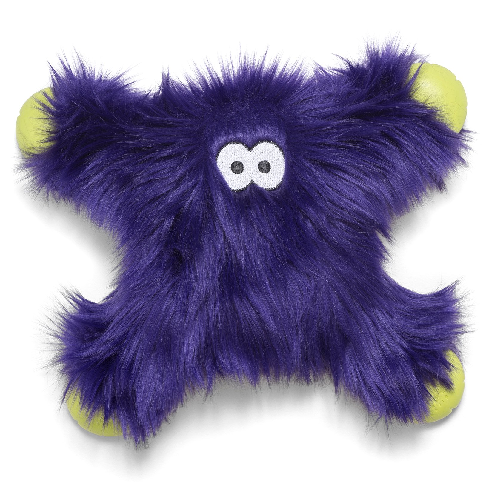West Paw Rowdies with HardyTex and Zogoflex, Durable Plush Dog Toy for Medium to Large Dogs, Lincoln, Purple Fur by West Paw Design