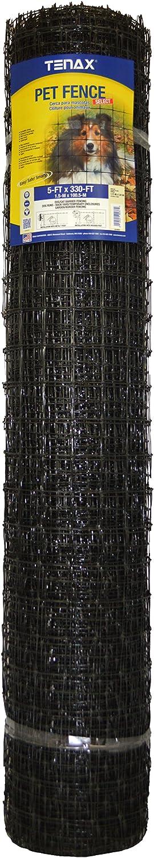 Tenax 2A140076 Pet Fence, 5' x 330', Black