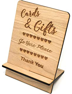 Green Rustic Wood Effect Cards And Gifts Post Box Personalised Wedding Sign