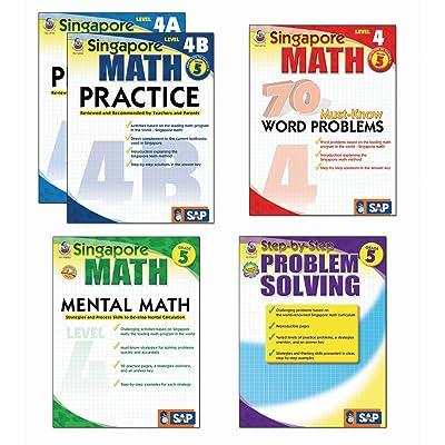 Carson-Dellosa FS-704180 Singapore Math Bundle, Grade 5, Set of 5, Grade: 11 to 5 (Pack of 5): Industrial & Scientific