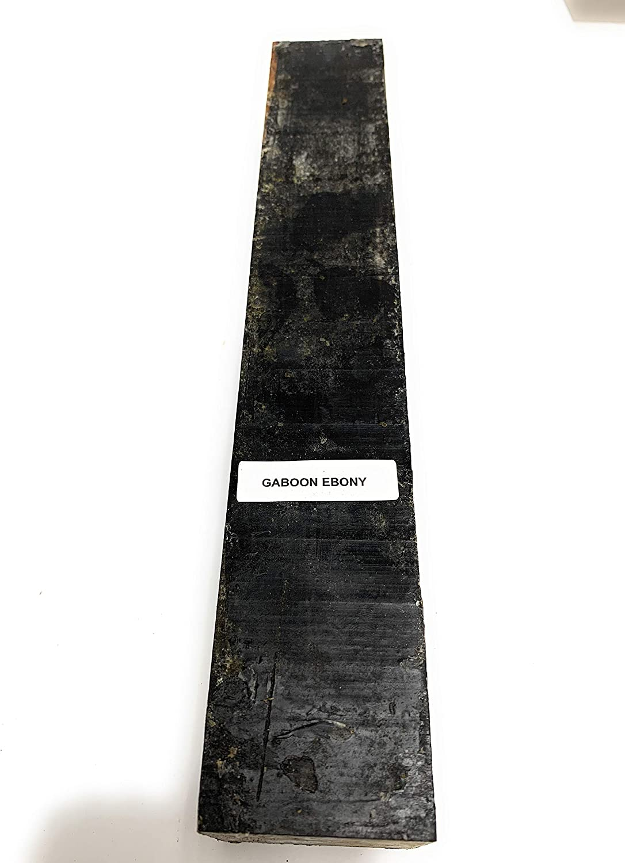 1-1//2 x 1-1//2 x 12 Beautiful Ebony Gaboon Wood: