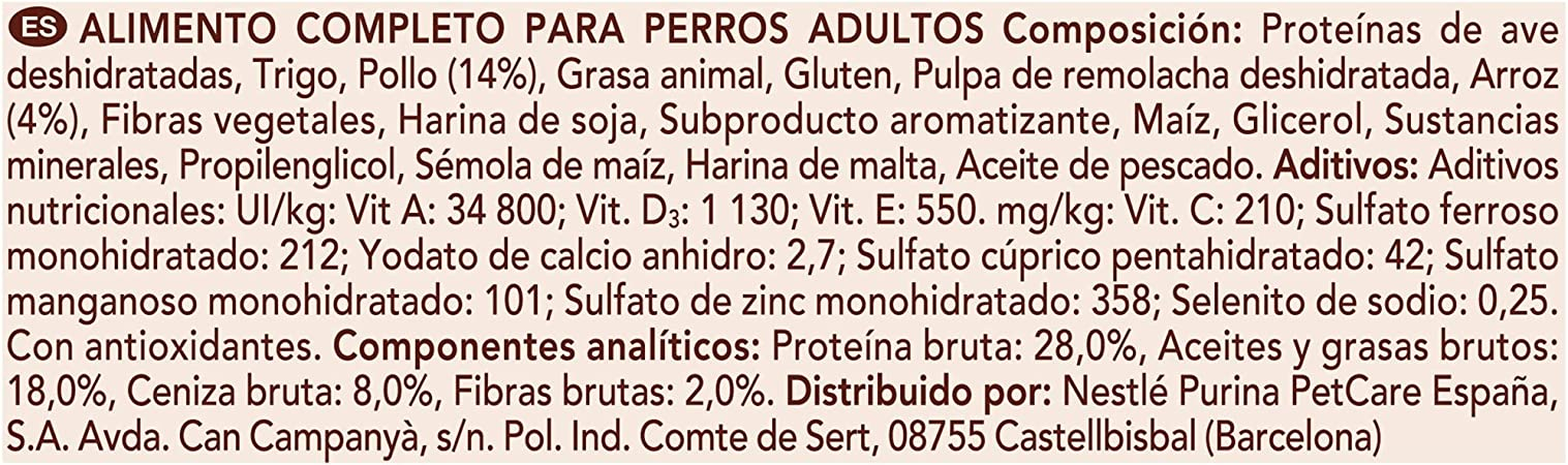 PURINA ONE Mini Weigth Control Pienso para Perro Adulto Pavo y Arroz 8 x 800 g