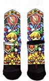 Nintendo Legend of Zelda Link Stained Glass Sublimated Crew Socks