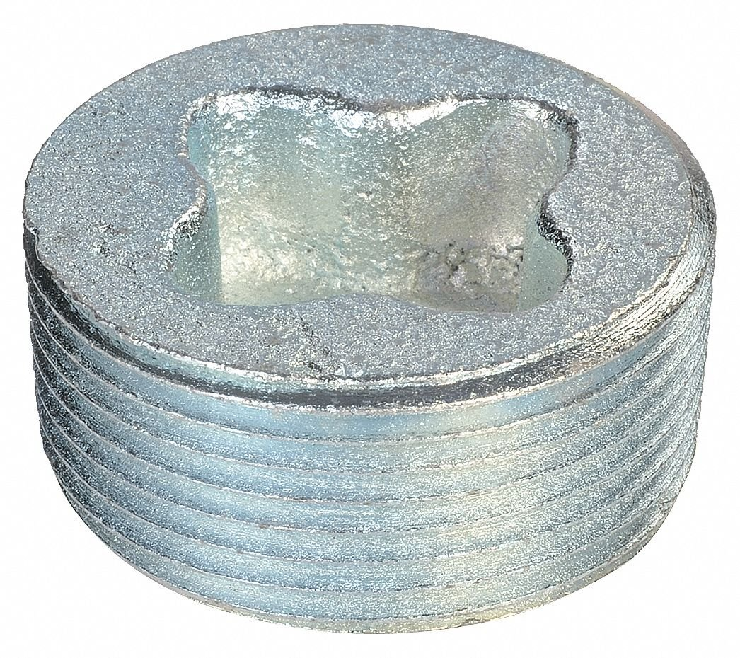 Recessed Plug, Aluminum, Male Connection, 1/2'' Conduit Size, Pack of 5