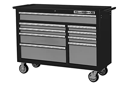 .com: gearwrench 83158 53-inch 9 drawer roller cabinet black ...