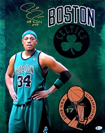 bf07aca51 Paul Pierce Autographed 16X20 Photo Celtics quot 08 Finals MVP quot  Inscr.  Beckett - Beckett