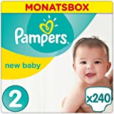 Pampers Premium Protection New Baby Windeln, Gr. 2 Mini (3-6 kg), Monatsbox, 1er Pack (1 x 240 Stück)