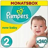 Pampers Premium Protection New Baby Windeln, Gr. 2 Mini (3-6 kg), Monatsbox, 1er Pack (1 x 240 Stück)