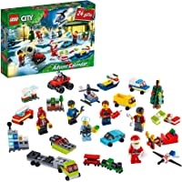 LEGO City Adventskalender 60268 2020, mini-bouwset met kleine voertuigen, Santa slee en board, bouwset