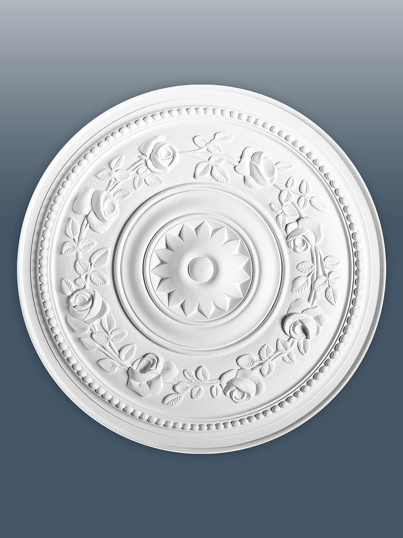ORAC R61 Ceiling Rose Rosette Medallion Centre high quality polyurethane floral decor white | 40 cm = 15.6 inch diameter Orac Decor