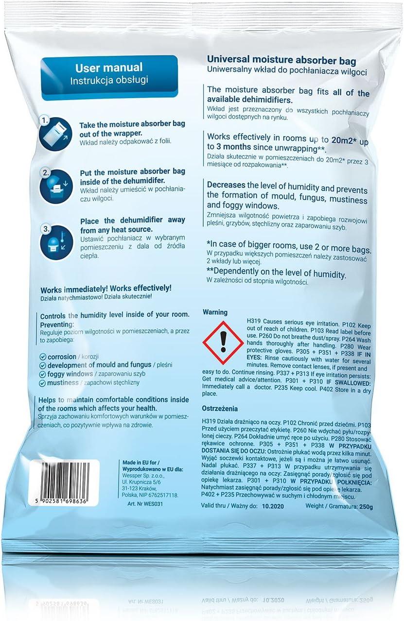 10 x Recharges de granul/és pour d/éshumidificateur 250 g