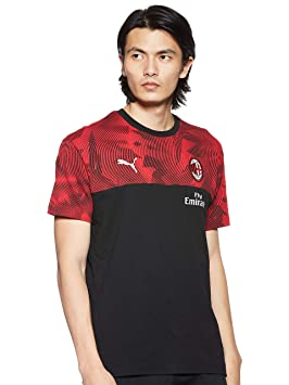 adidas 2019-2020 AC Milan Puma Casuals tee (Negro) - 756150, Large ...