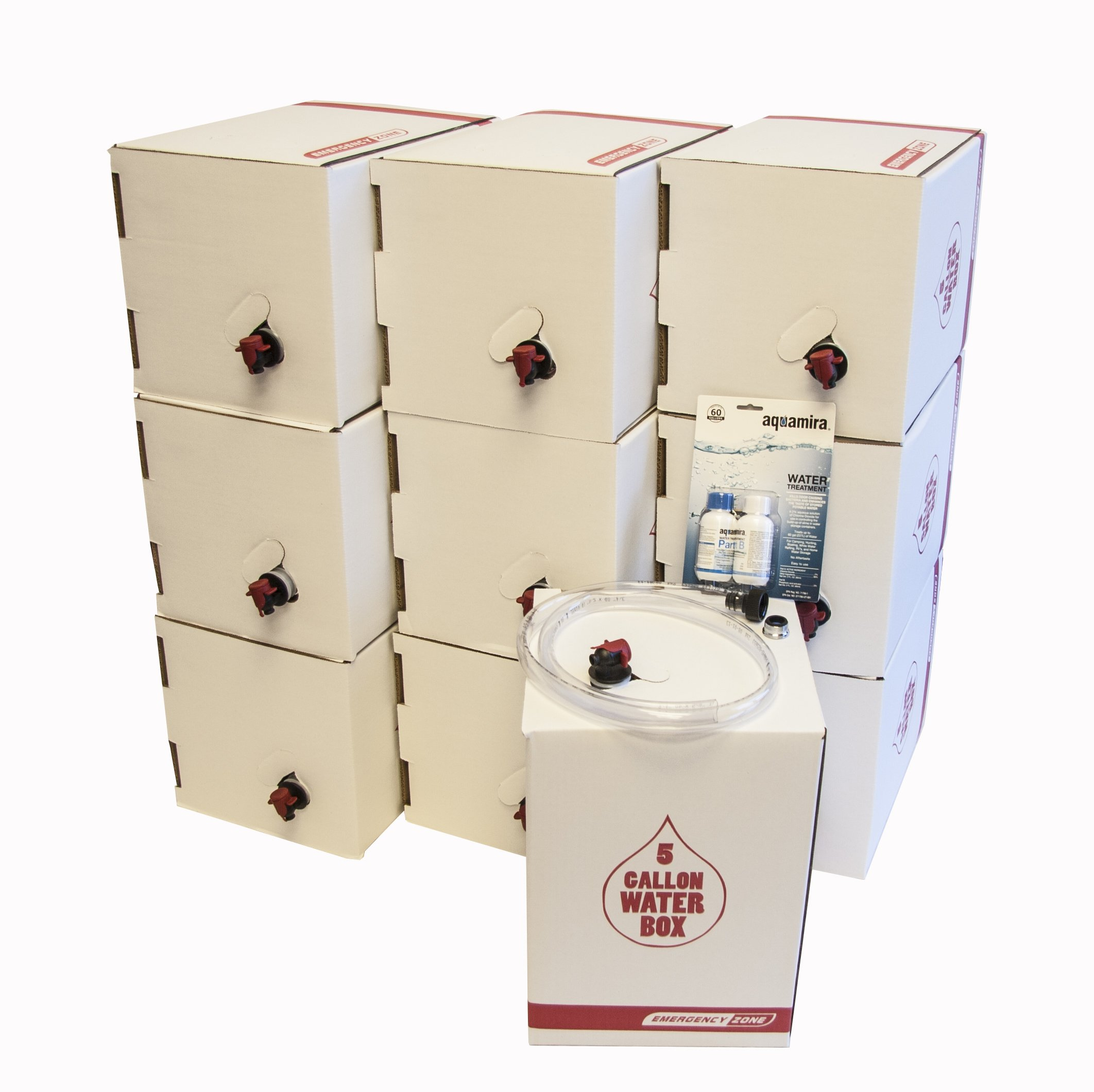 Long Term Water Storage System, BPA Free Water Bags, 5 Year Shelf Life, 50 Gallon Set by Emergency Zone
