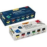 Mix Pack: Javana 90600 - Textil Stoffmalfarben Sunny CreativSet 6 x 20 ml + Textil Stoffmalfarben Glitter Creativ Set 6 x 20 ml (2er Set, Glitter Creativ + CreativSet Textil)