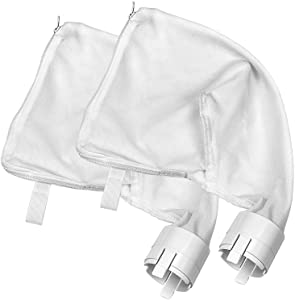 Sumille 2 Pack Zipper Replacement Bags Fit for Polaris 360/380, Nylon Mesh All Purpose Bags Pool Cleaner Replacement Part 9-100-1021/9-100-1014