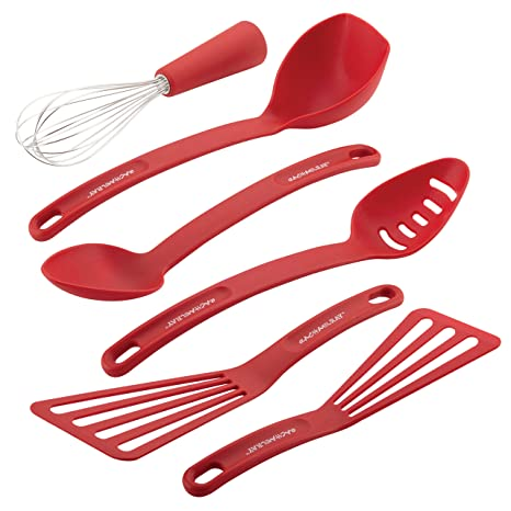 amazon com rachael ray nylon nonstick tools set red 6 piece rh amazon com rachael ray kitchen tools canada rachael ray essential kitchen tools