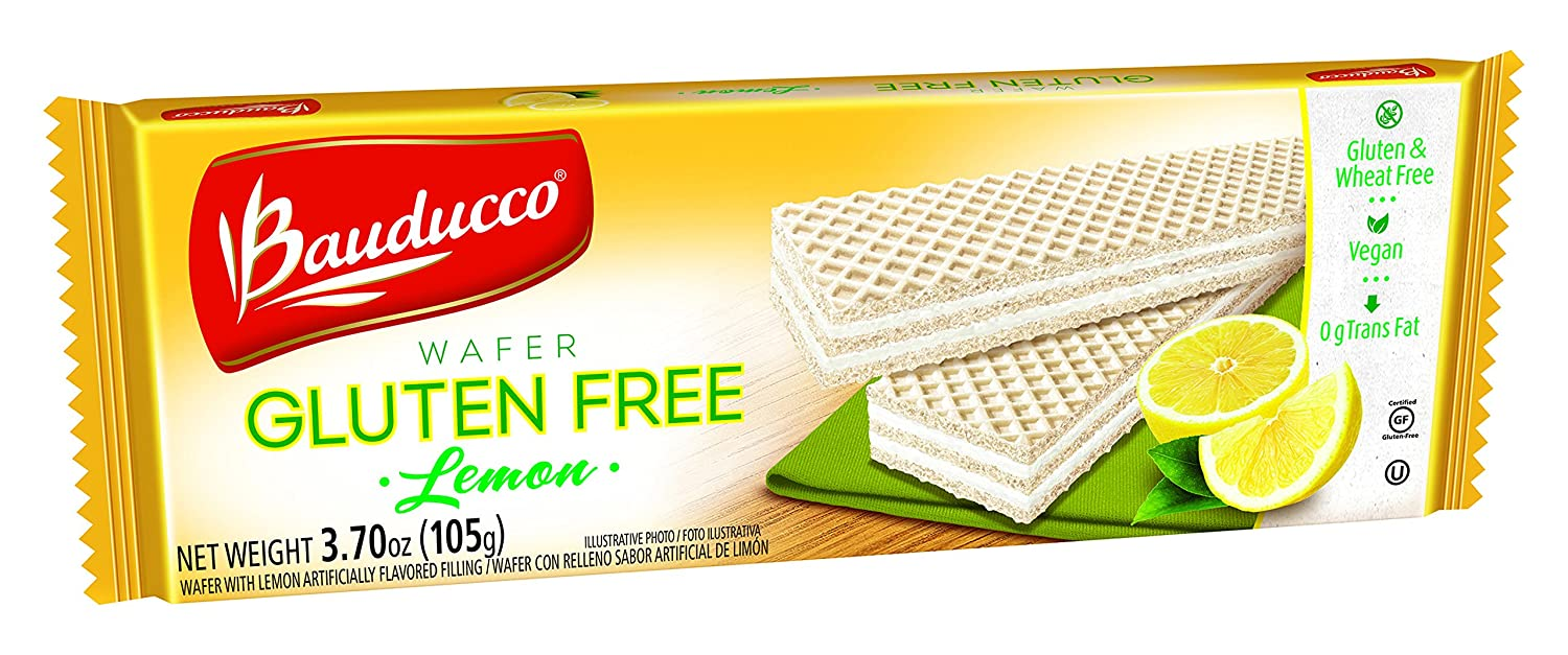Amazon.com: Bauducco Wafer Gluten Free, 3.7 oz. packs of Delicious Gluten Free Wafers (Lemon, 1 Pack)