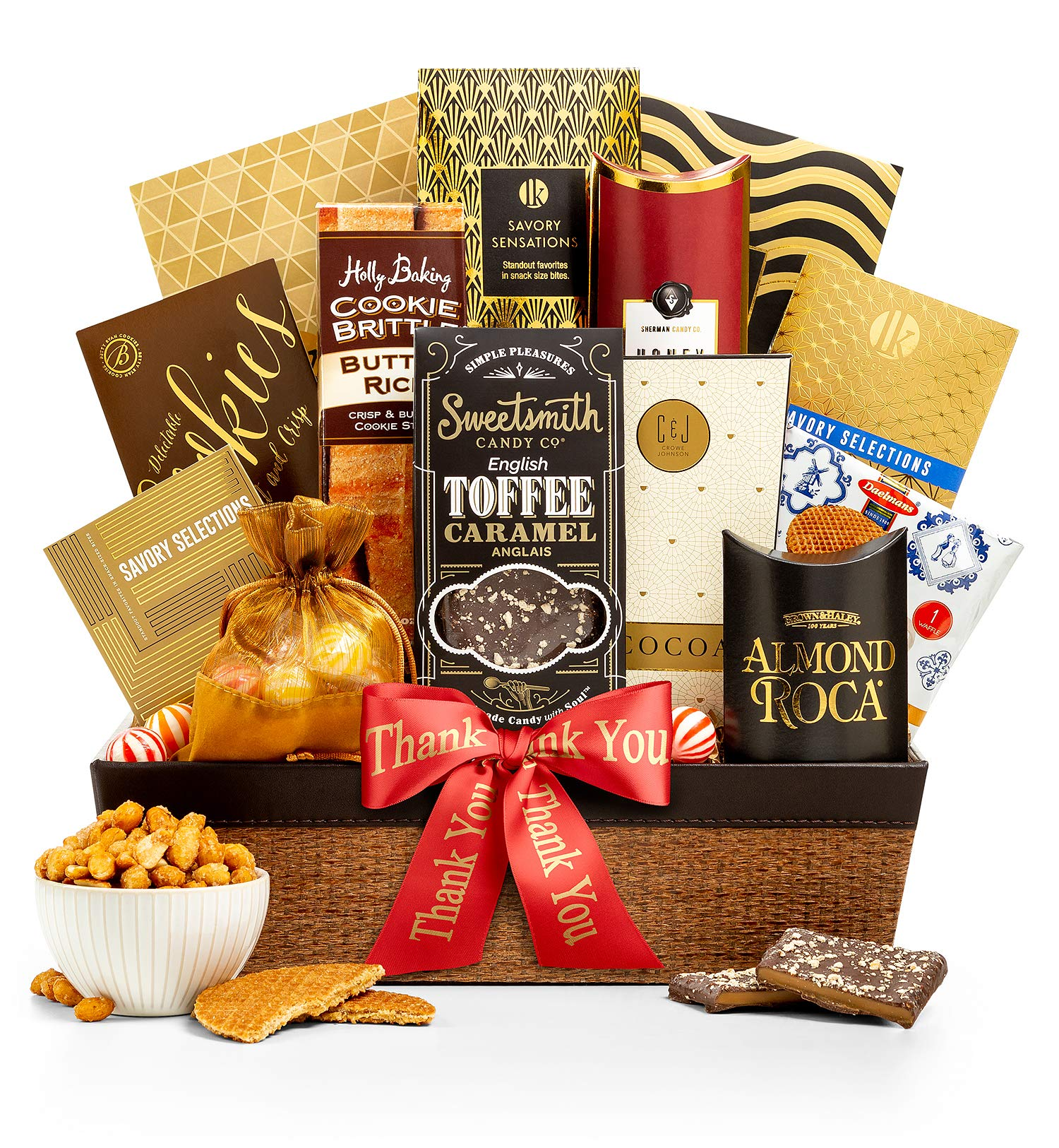 CDM product GiftTree Encore Gourmet Thank You Gift Basket | Assortments of Popcorn, Almond Roca, Honey Roasted Peanuts, Cookies & More | Perfect Way To Show Your Appreciation big image