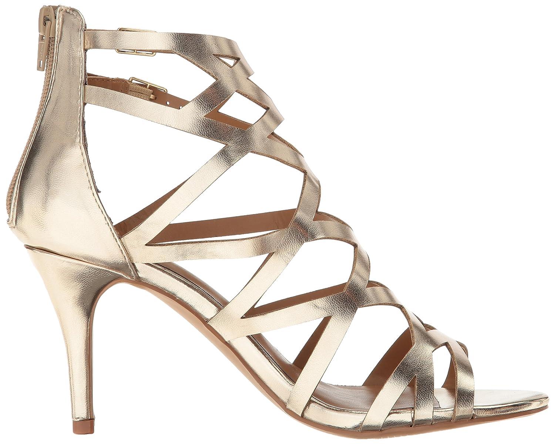 Kareena M 8.5 Size gold Sandals Dress Caged Women's Report
