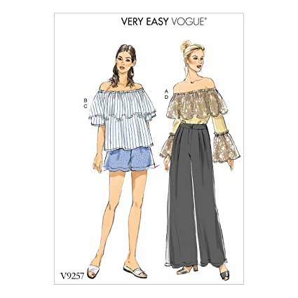 Tissue 15 x 0.5 x 22 cm Multi-Colour Vogue Patterns 9253 ZZ,Misses Dress,Sizes LRG-XXL
