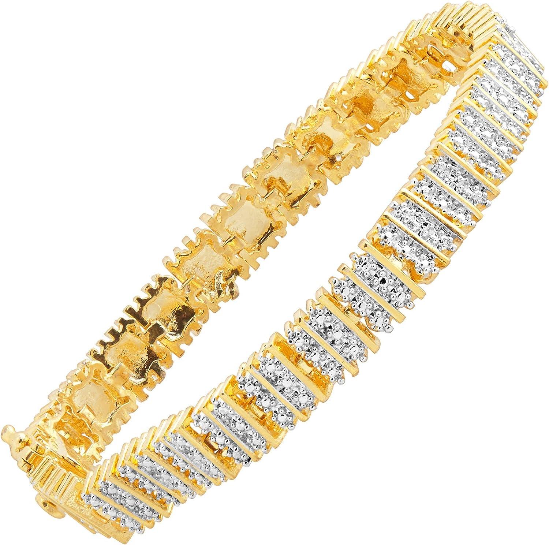 "Details about  /5.00 Carat Round Diamond Link Tennis Ladies Bracelet 14K Yellow Gold Over 7.25/"""