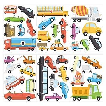 dekodino Wandtattoo Kinderzimmer Wandsticker Set Autos in ...