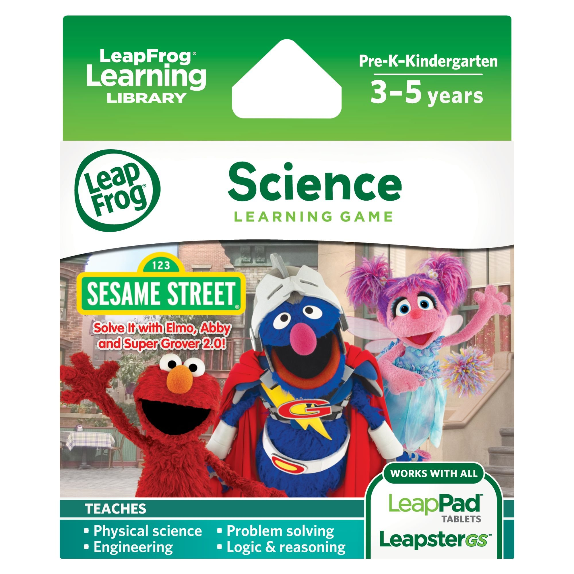 LeapFrog Learning Game: Sesame Street Solve it with Elmo (for LeapPad Tablets and LeapsterGS) by LeapFrog