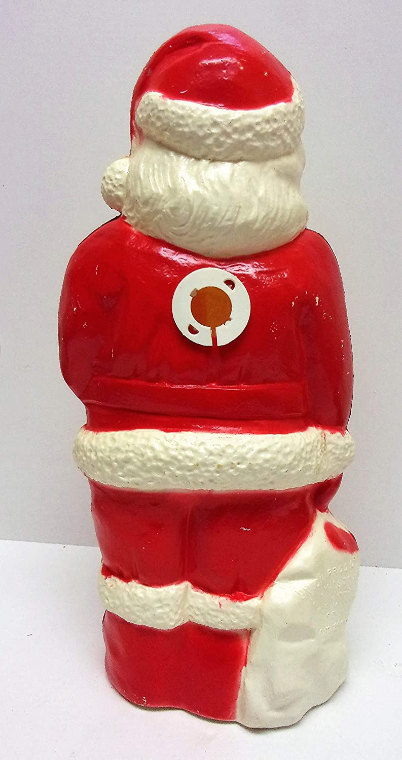 Union Products Lighted Santa Holding Bag VINTAGE Blow Mold 13 Inch