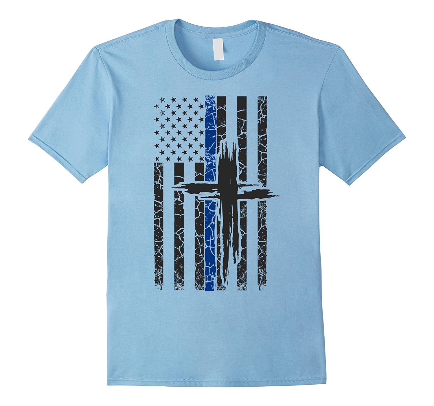Thin Blue Line T Shirt – For The Police & Their Families